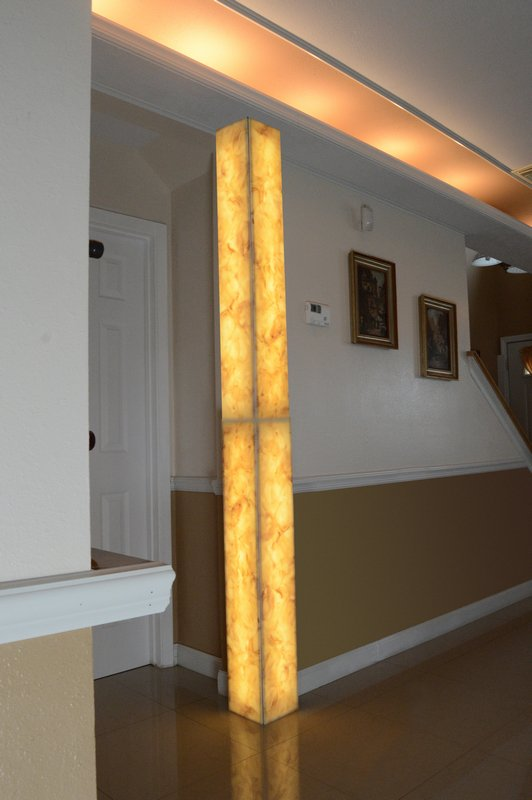 Backlit Modular Corner Column