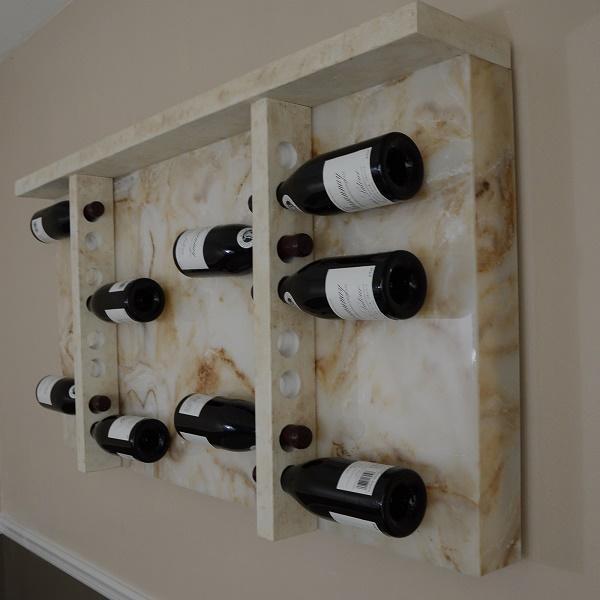 Backlit Modular Wine Rack